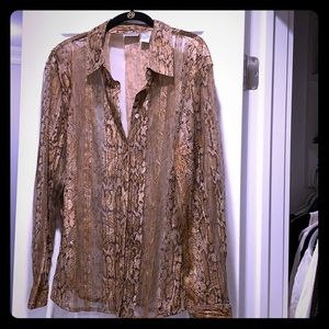 Like new sheer Chico's blouse